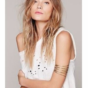 Free People Gold Metal Upper Arm Band